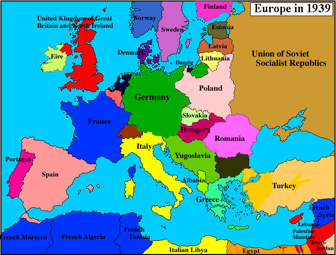 Map Of Europe ThingLink - World map europe