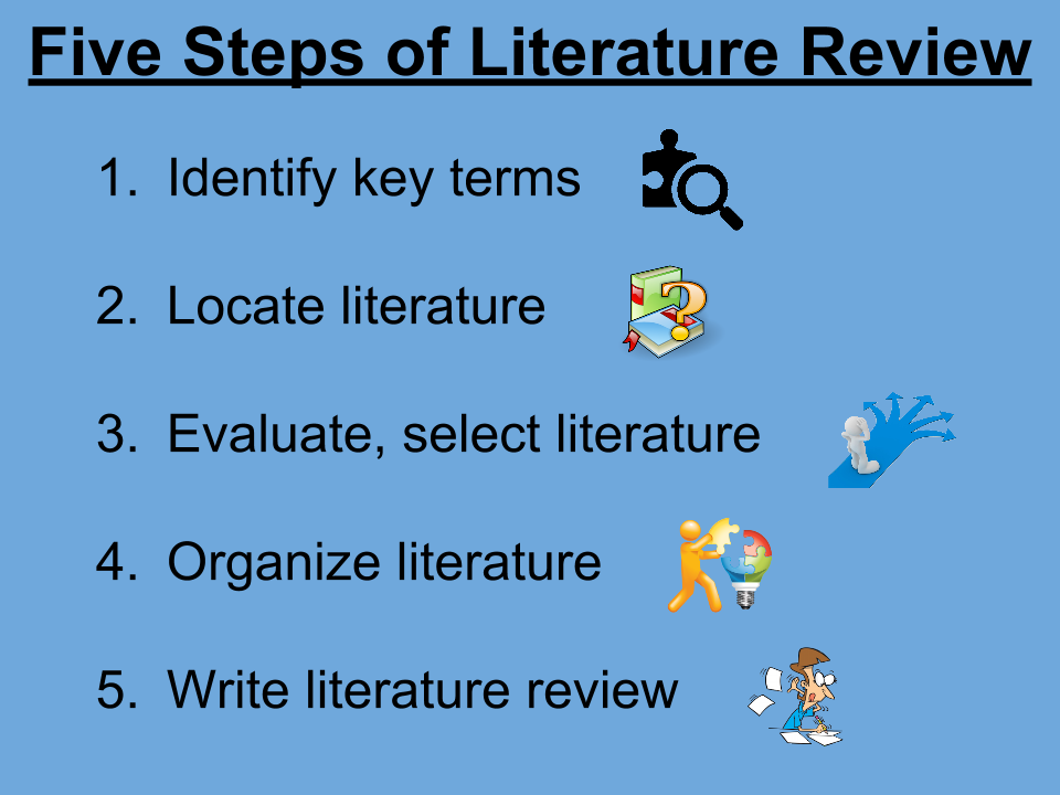 Research Process: A Step-by-Step Guide: 4f. Literature Reviews
