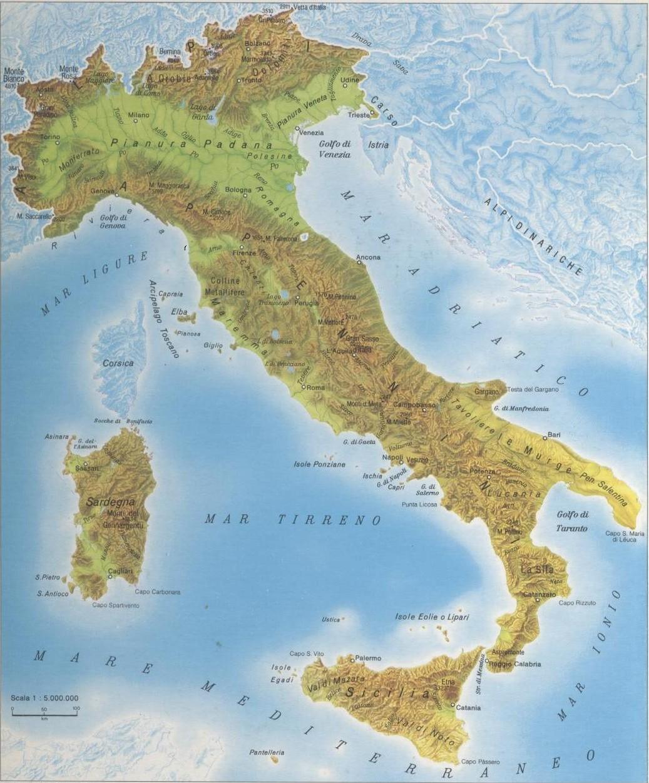 Cartina Italia Hd.Monte Bianco Altezza 4810 M