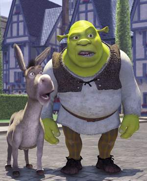 the donkey and shrek thinglink - Shrek Ane