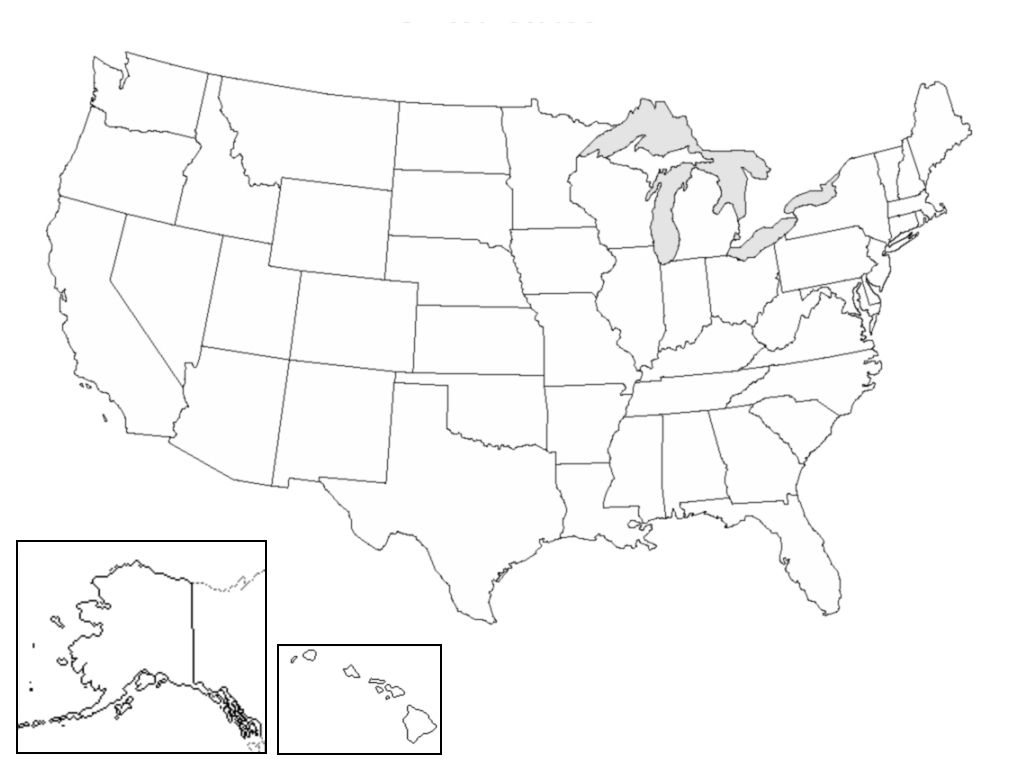 Mapa Politico Estados Unidos.Mapa Politico De Los Estados Unidos De America