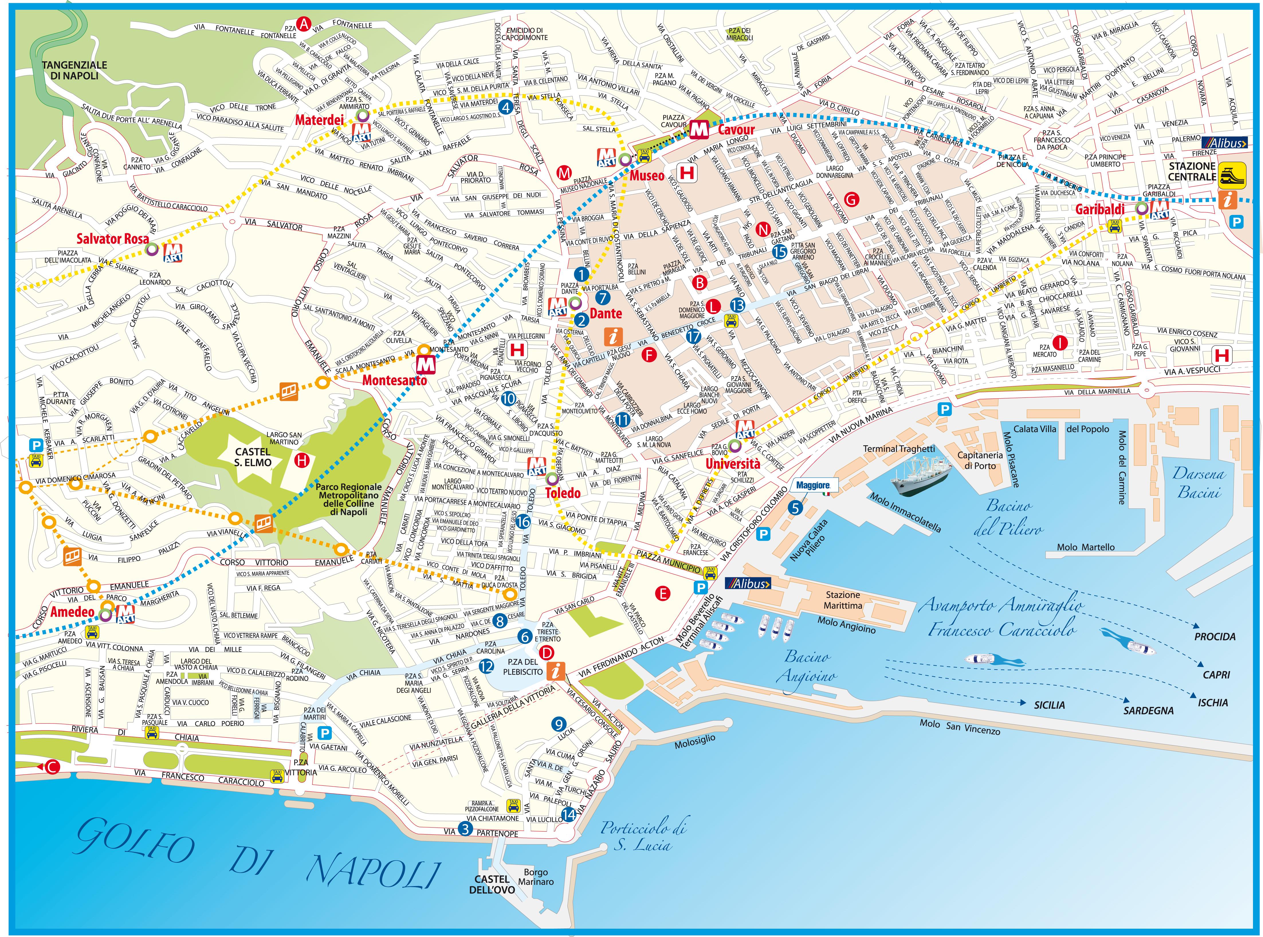 Cartina Turistica Napoli Centro.Gita A Napoli