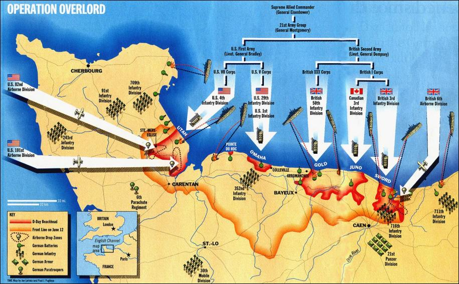 Map of D-Day - ThingLink Map D on