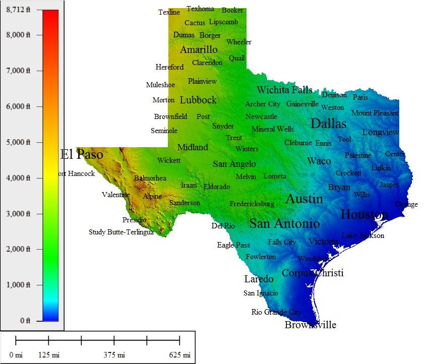 Texas Moises And Jayden ThingLink - Satellite maps texas