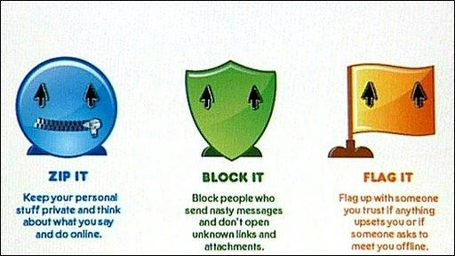 Internet safety slogans for kids