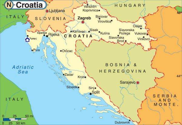 Kartta Kroatia