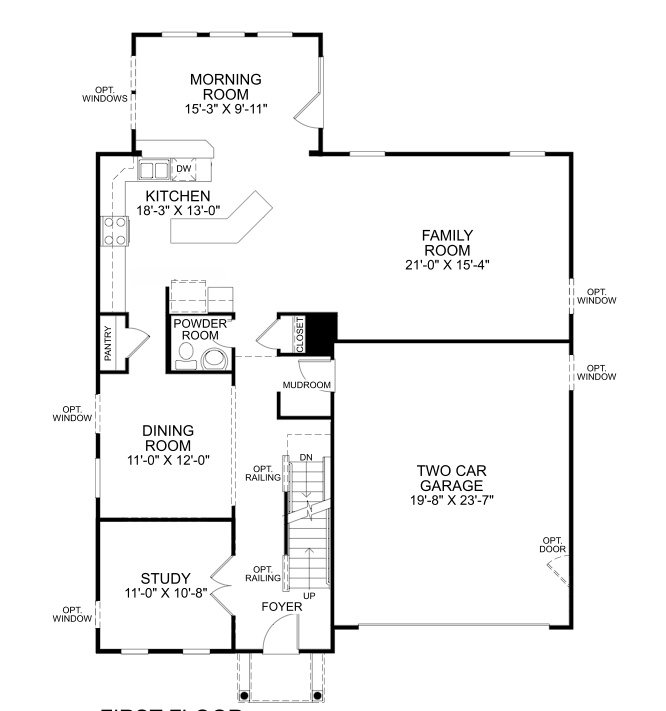 Ryan Homes Naples Model, Floor 1