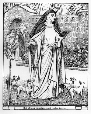 the prioress vs the wife of Everything you ever wanted to know about the prioress in the canterbury tales: general prologue & frame story, written by masters of this stuff just for you.