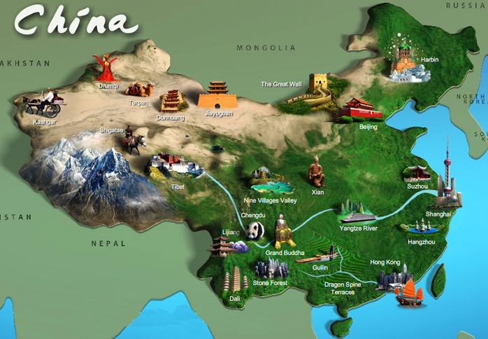 China Map Game.Map Of Chinese Attractions