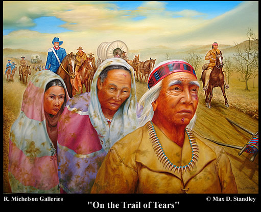 the event on how the native american indians were driven out from their land