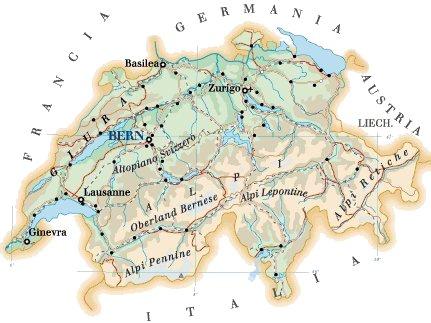 La Svizzera Cartina.Cartina Svizzera