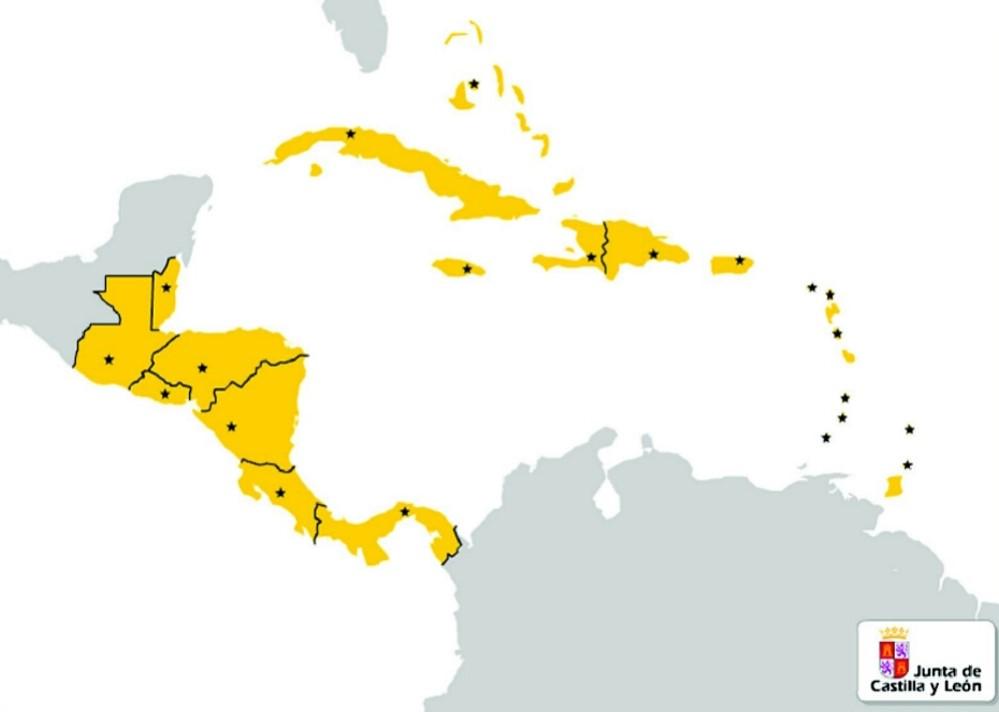 Mapa Politico De America Central