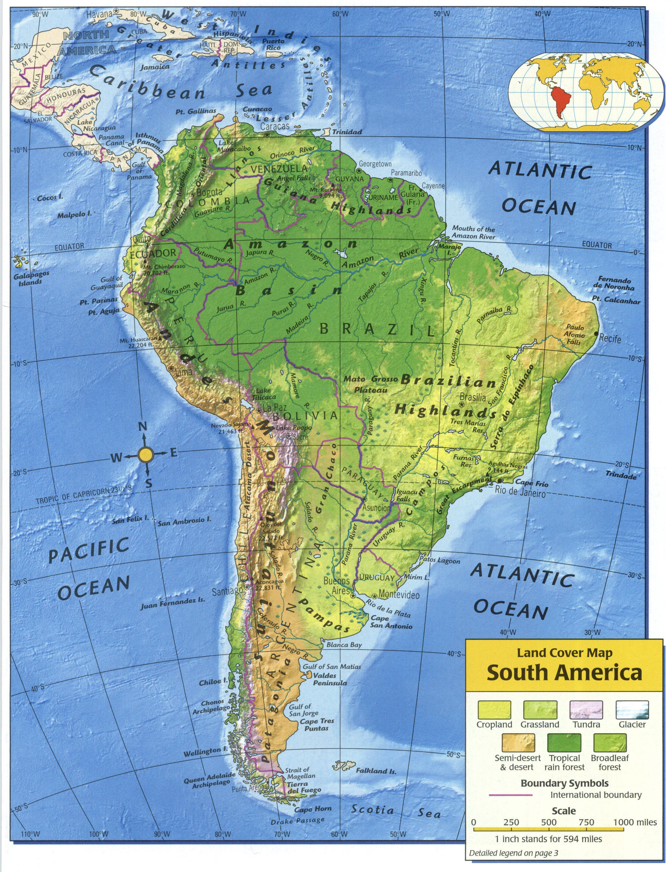 Influences Of The Physical Features Of South America ThingLink - Physical map of south america