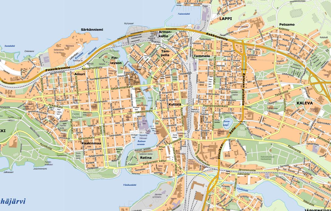 Tampereen Kartta Internet Ja Tietokoneet