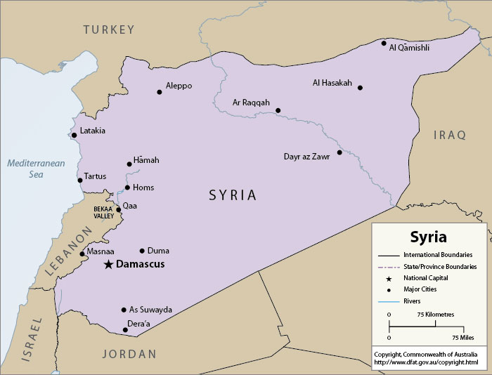 Map Of Syria ThingLink - Map of syria