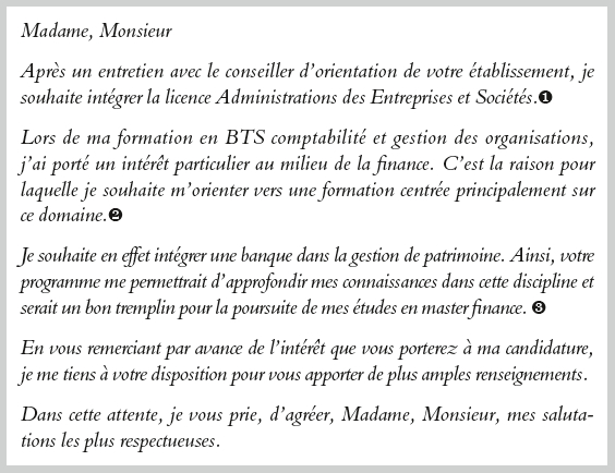 Licence Gestion Aes Lettre 1