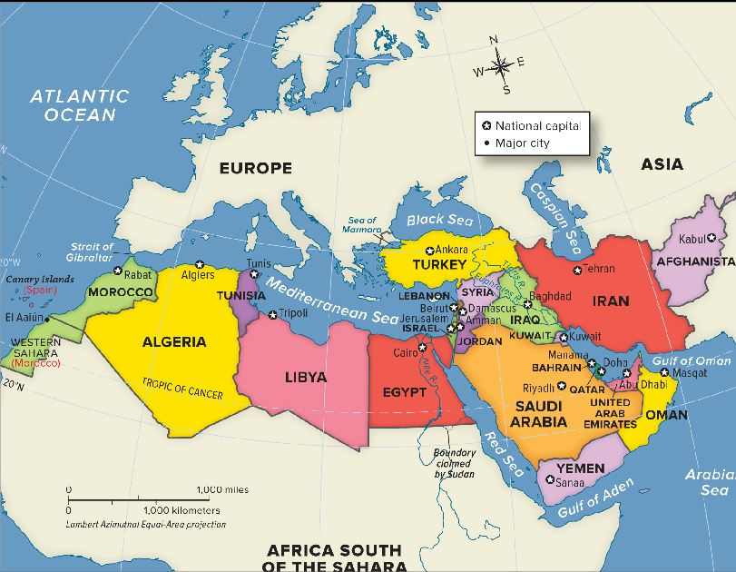 south west asia and north africa map Southwest Asia North Africa south west asia and north africa map