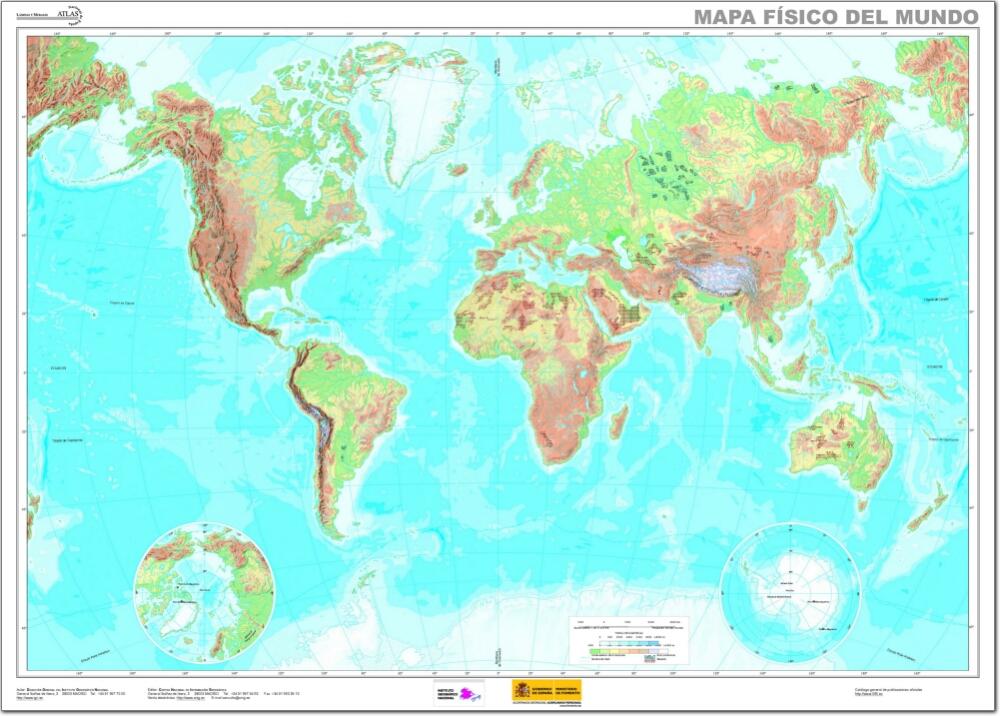 Mapa Rios Del Mundo.Trabajo Mapa Mundi Fisico