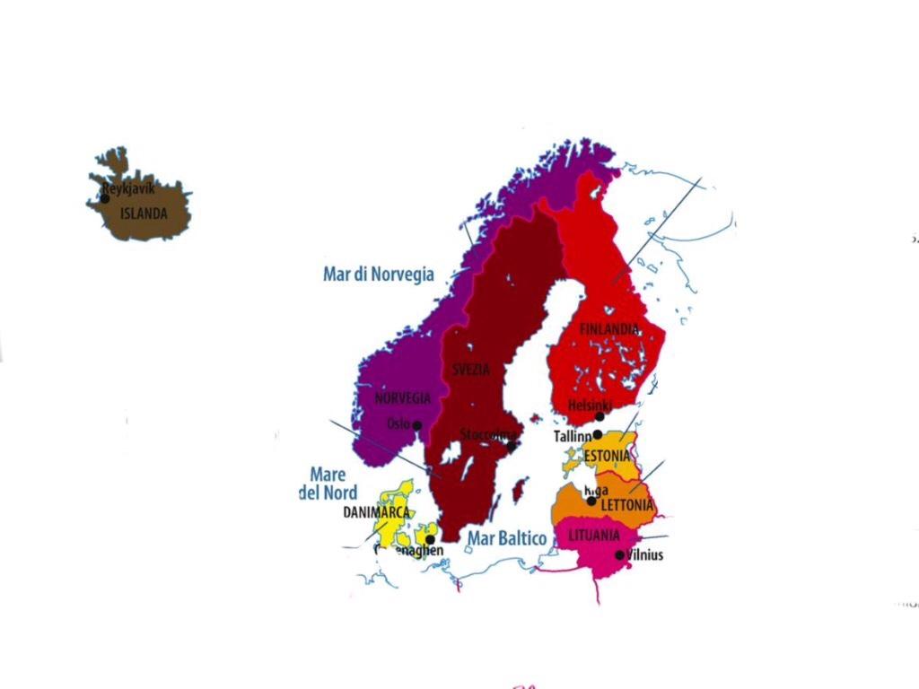 Cartina Regione Scandinava E Baltica Di Marta Burroni