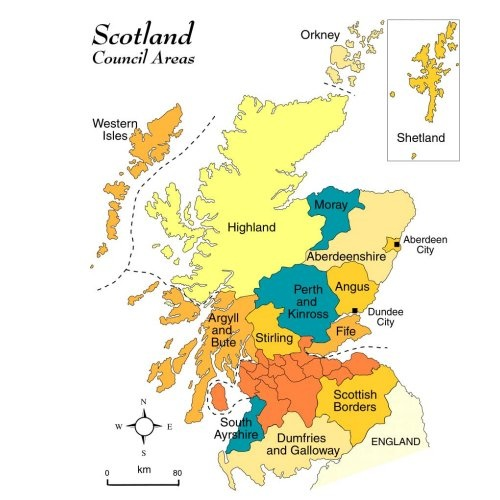 A Map Of Scotland With Macbeth Locations