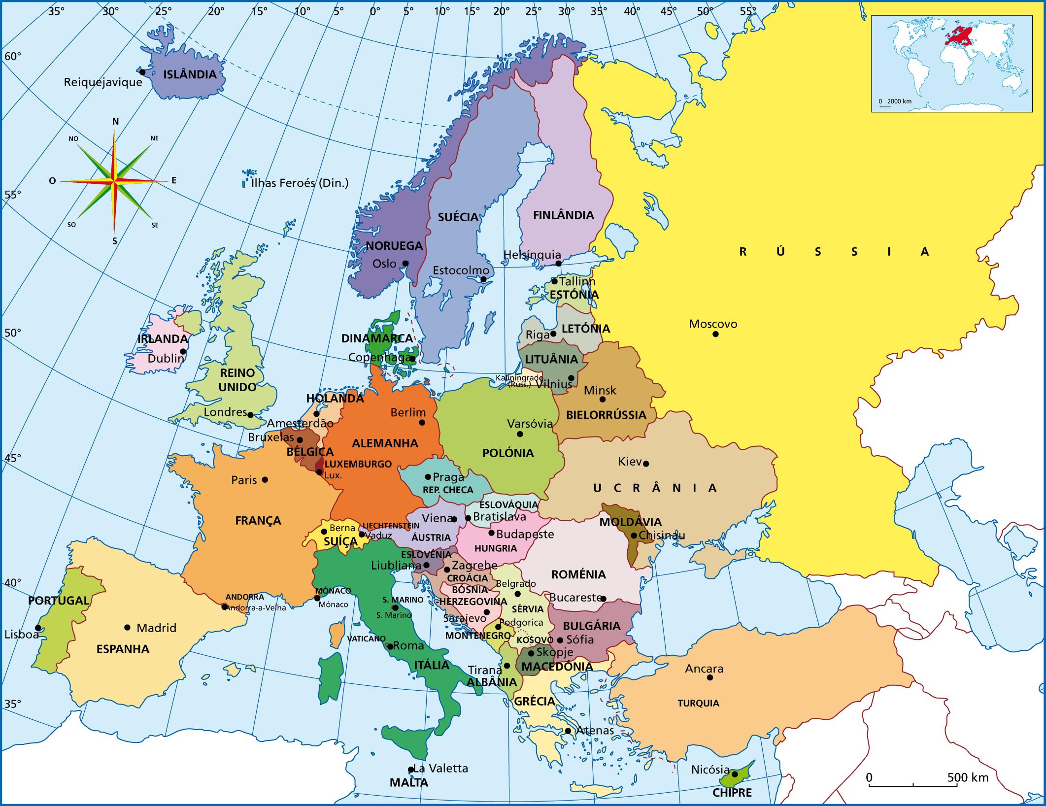 Mapa Europa Polít...