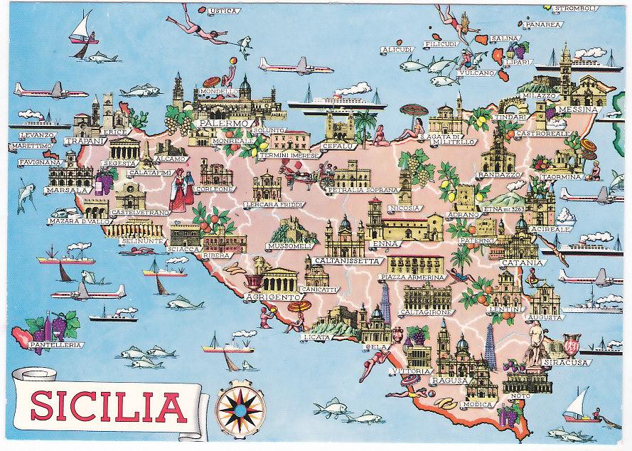 Cartina Dettagliata Sicilia Orientale.La Sicilia
