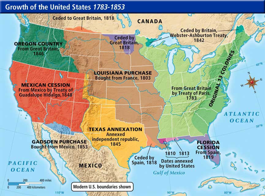 Westward Expansion Map ThingLink - Us westward expansion map