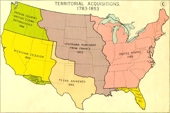 Westward Expansion Project Thinglink: Map Of Us During Westward Expansion At Usa Maps