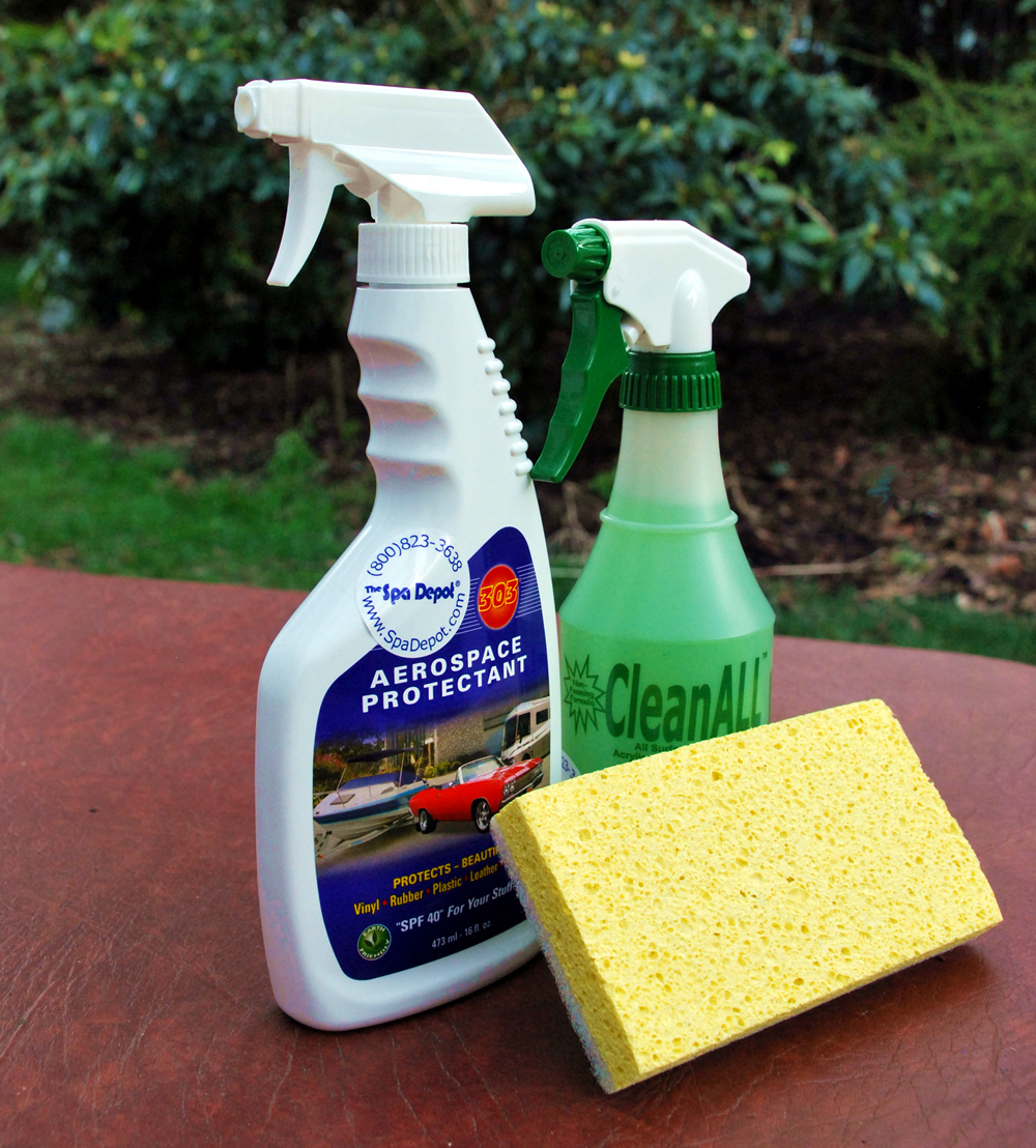 303 Protectant Spray, CleanAll Spa & Cover Cleaner, SPAng...