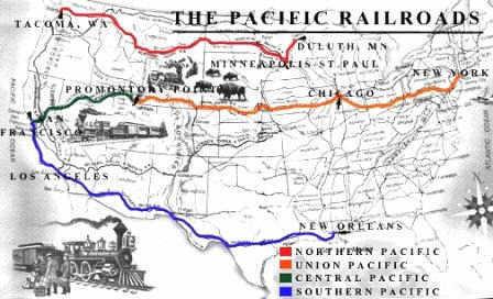 transcontinental railroad impact