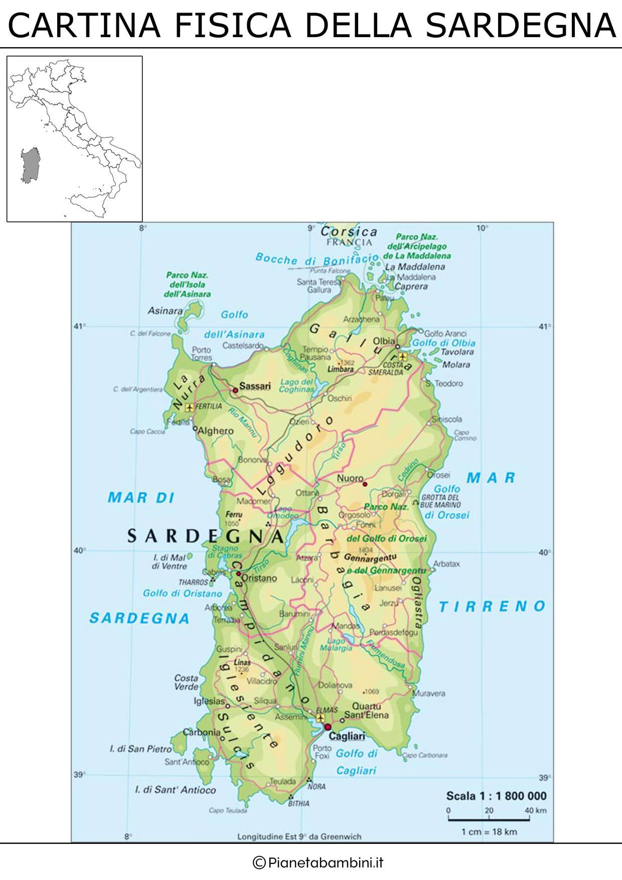 Cartina Muta Italia Regioni E Capoluoghi Da Stampare.Cagliari E Il Capoluogo Di Regione