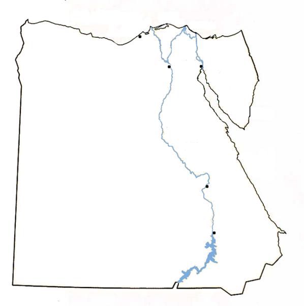 LOWER EGYPT UPPER EGYPT ThingLink - Map of egypt blank