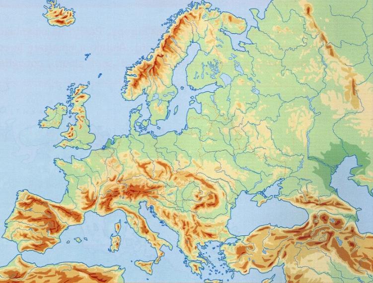 Cartina Europa Muta Fisica Pieterduisenberg