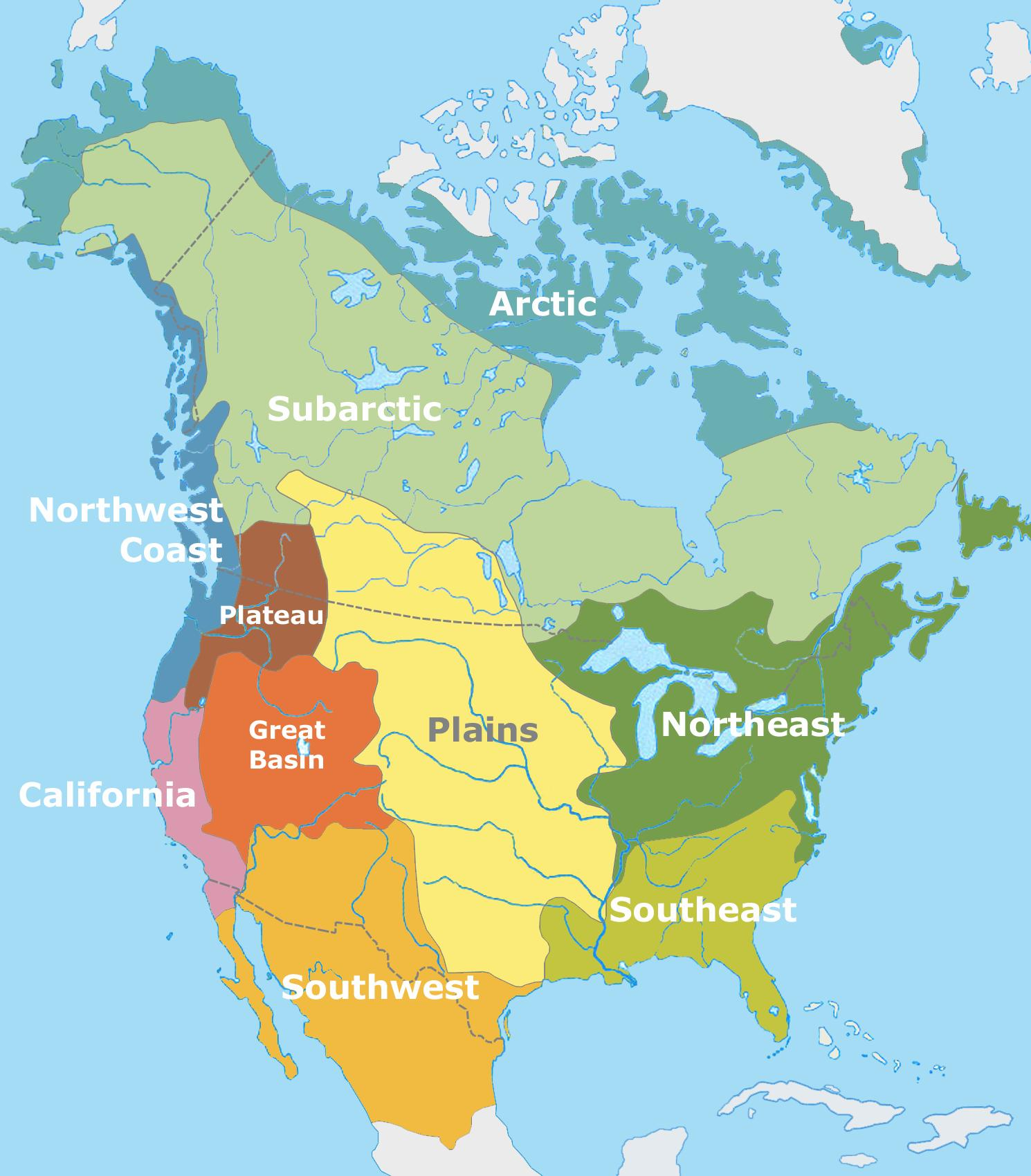 Native American Culture Regions ThingLink