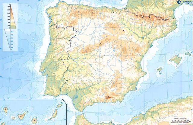 Mapa De La Peninsula.Mapa De La Peninsula Iberica
