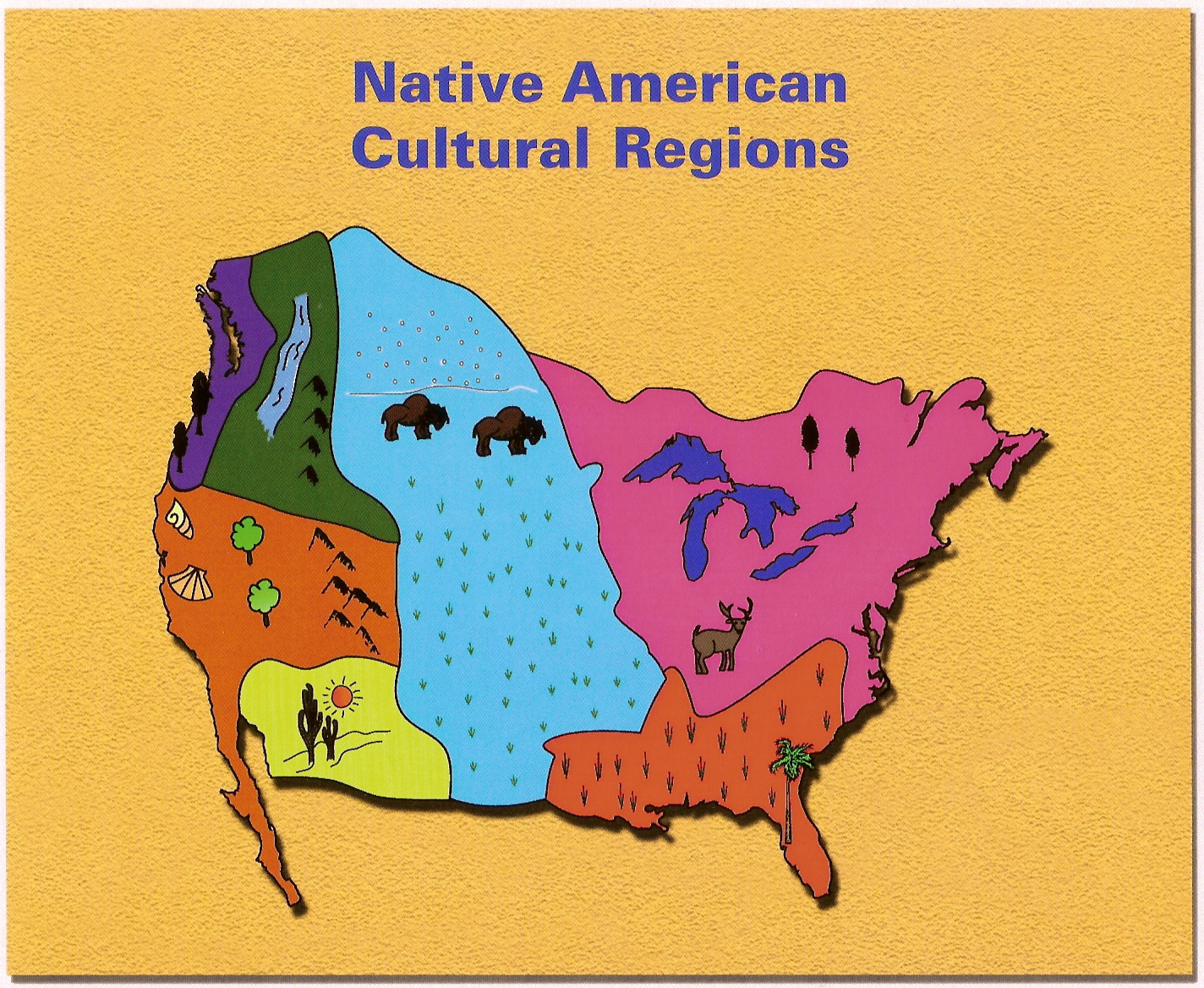 Native American Cultural Regions - ThingLink