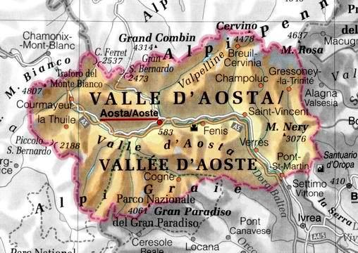 Cartina Della Valle D Aosta Politica.La Valle D Aosta