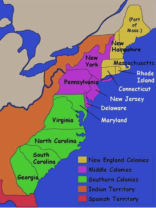 Vincents Colonies Map ThingLink - Us 13 colonies map