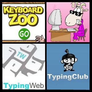 Keyboard Zoo, Dance Mat Typing, Typing Web, Typing Club