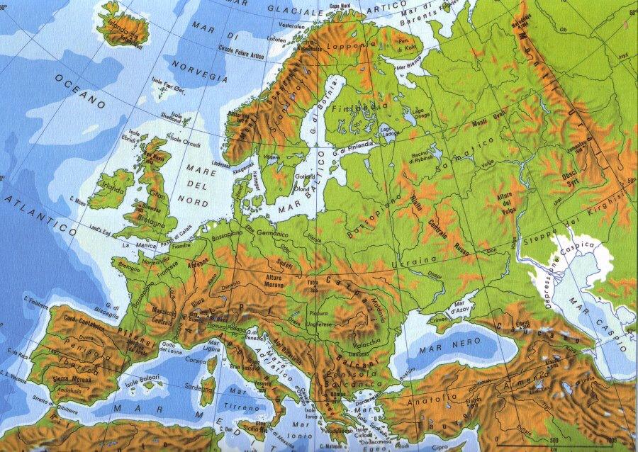 Europa Meridionale Cartina.Le Principali Pianure D Europa Pezzo Jennifer