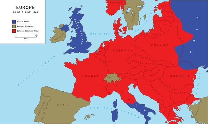 WWII- Europe in June of 1944. By:Coleman Bready- Block 2 - ThingLink