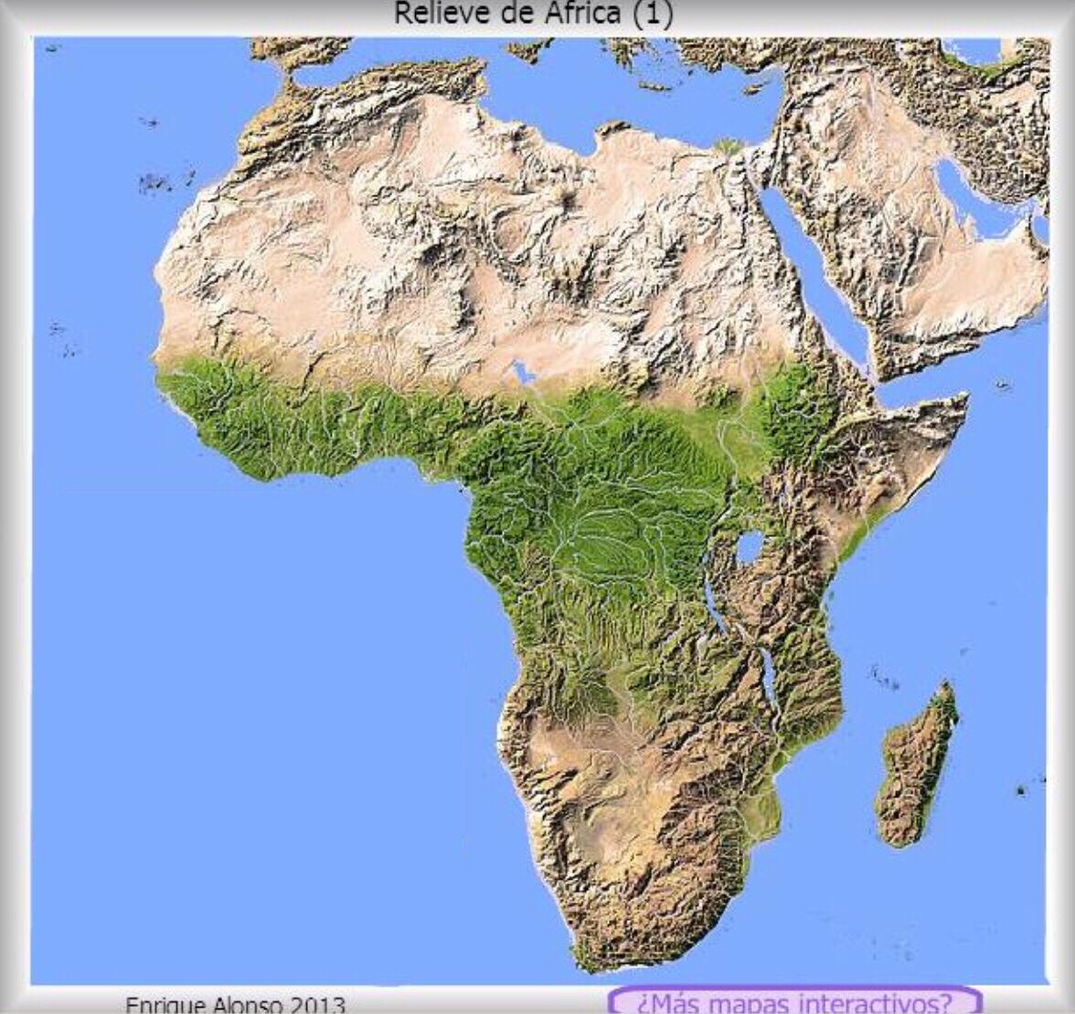 Relieve De Africa Mapa.Copia De Africa Fisico Mapa Relieve
