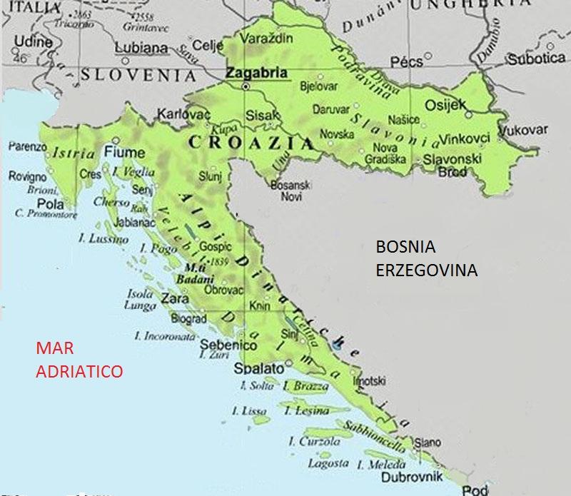 Cartina Della Slovenia E Croazia.Manifesto Costoso Vasta Gamma Zara Cartina Speciale Teseo Lao