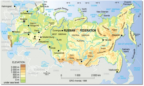 Physical Map Of Russia ThingLink - Physical map of russia