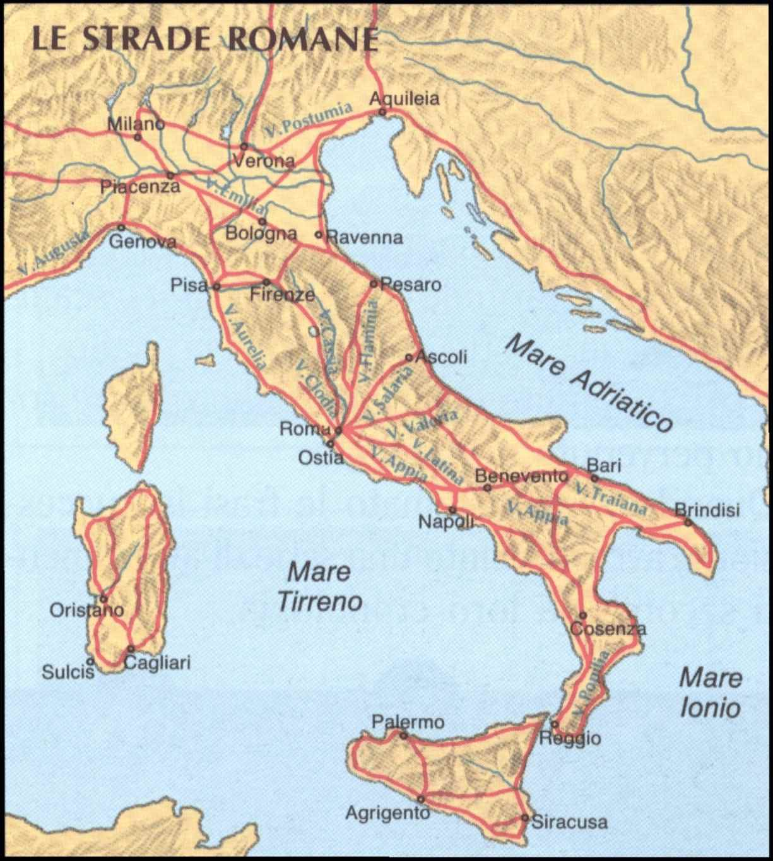 Cartina Italia Romana.Le Strade Romane