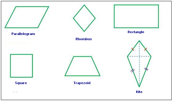 Quadrilaterals | Free Math Worksheets