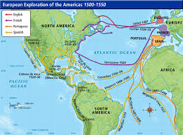 This is the map (route) that Christopher Columbus took.
