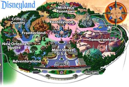 Disneyland Usa Map.Disneyland Map