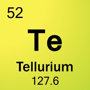 atomic number and tellurium Tellurium is a chemical element in the periodic table that has the symbol te and atomic number 52 a brittle silver-white metalloid which looks like tin, tellurium is chemically related to.