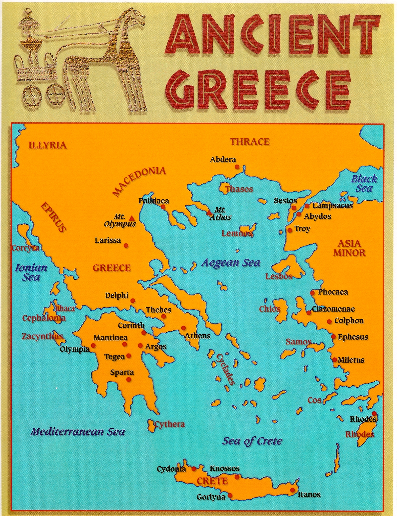 Map Of Ancient Greece Ancient Greece Interactive Map Map Of Ancient Greece